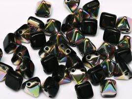 Pyramid Beads 6mm Jet AB beschichtet 10 Stück
