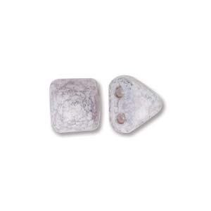 Pyramid Beads 6mm Alabaster Terracotta Copper 10 Stück