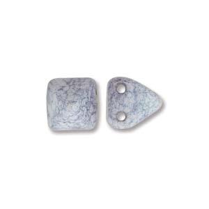 Pyramid Beads 6mm Alabaster Terracotta Blue 10 Stück
