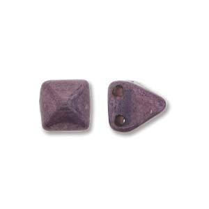Pyramid Beads 6mm Alabaster Lila Vega Luster 10 Stück