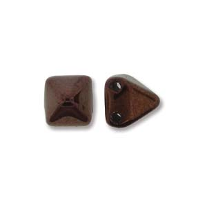 Pyramid Beads 6mm Jet Vega Luster 10 Stück