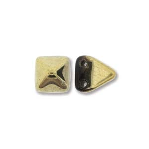 Pyramid Beads 6mm Jet Amber 10 Stück