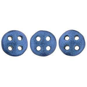 Quadralentil 6mm metallic Suede Blue ca 10 Gramm