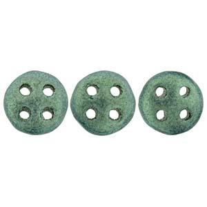 Quadralentil 6mm metallic Suede Light Green ca 10 Gramm