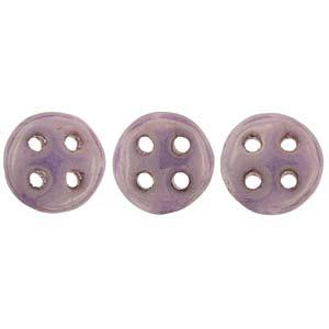 Quadralentil 6mm opaque Luster Lilac ca 10 Gramm