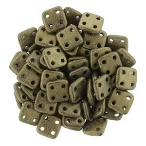 Quadratile Beads metallic suede Gold ca 10 gr