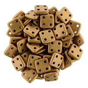 Quadratile Beads matte metallic Bronze ca 10 gr