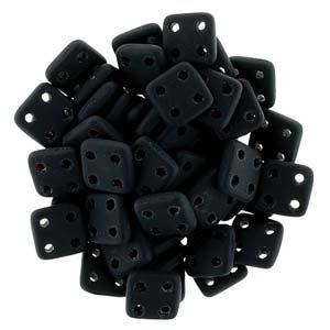 Quadratile Beads matte Jet ca 10 gr