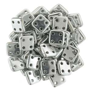 Quadratile Beads Silver ca 10 gr