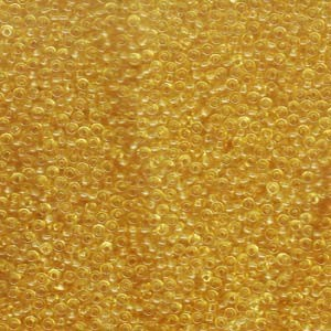 Miyuki Rocailles Beads 2mm 0132F matt transparent Light Gold 12gr