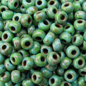 Miyuki Rocailles Beads 2mm 4514 matt Picasso Seafoam Green ca 23gr