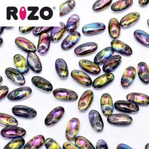 Rizo Glasperlen 2,5x6 mm Magic Purple ca 25gr