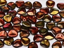 Rose Petal Beads 8x7mm 00030-95200 Crystal Magic Wine ca 80 Stück