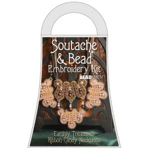 Materialkit Soutache Ribbon Candy Brown