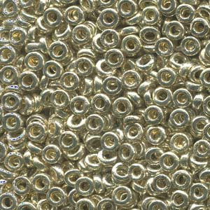 Miyuki Spacer Beads 2,2X1mm galvanized Silver ca 10 gr