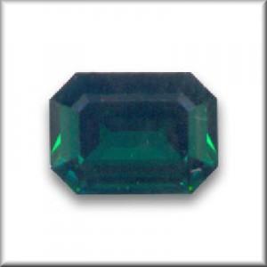 Swarovski Elements Steine Rechteck 18x13mm Emerald F 1 Stück
