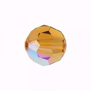 Swarovski Elements Perlen Kugeln 10mm Topaz AB beschichtet