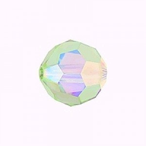 Swarovski Elements Perlen Kugeln 10mm Peridot AB beschichtet