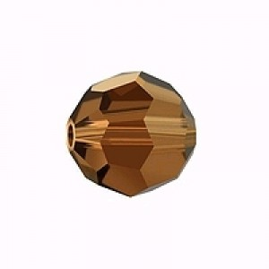 Swarovski Elements Perlen Kugeln 10mm Smoked Topaz