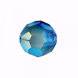 Swarovski Elements Perlen Kugeln 8mm Capri Blue AB beschichtet