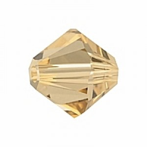 Swarovski Elements Perlen Bicones 2,5mm Light Colorado Topaz 50 Stück