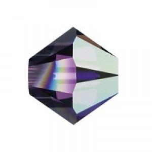 Swarovski Elements Perlen Bicones 3mm Amethyst AB beschichtet 100 Stück