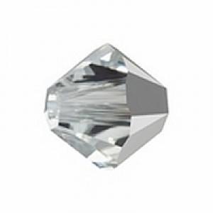 Swarovski Elements Perlen Bicones 4mm Crystal Comet Argent Light *CAL* 100 Stück