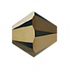 Swarovski Elements Perlen Bicones 4mm Crystal Dorado 2x beschichtet 100 Stück