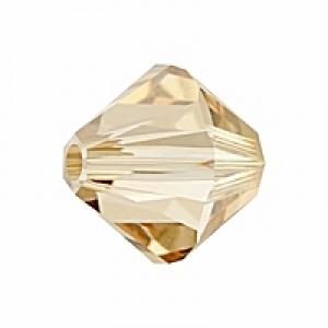 Swarovski Elements Perlen Bicones 4mm Crystal Golden Shadow 100 Stück