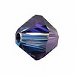 Swarovski Elements Perlen Bicones 4mm Crystal Heliotrope 50 Stück
