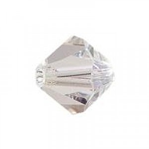 Swarovski Elements Perlen Bicones 4mm Crystal Moonlight 100 Stück