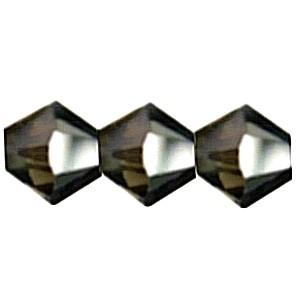 Swarovski Elements Perlen Bicones 4mm Crystal Silver Night 100 Stück