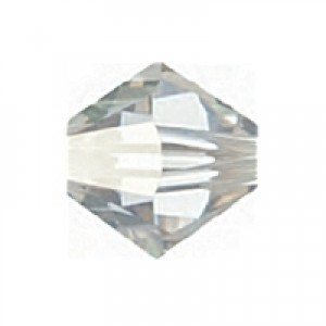 Swarovski Elements Perlen Bicones 4mm Crystal Silver Shade 100 Stück