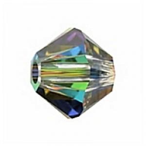 Swarovski Elements Perlen Bicones 4mm Crystal VM 100 Stück