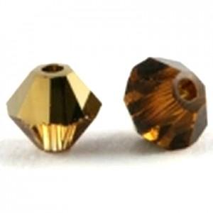 Swarovski Elements Perlen Bicones 4mm Topaz Dorado 50 Stück