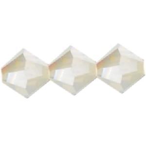 Swarovski Elements Perlen Bicones 4mm Sand Opal AB beschichtet 100 Stück