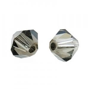 Swarovski Elements Perlen Bicones 5mm Black Diamond Satin 50 Stück