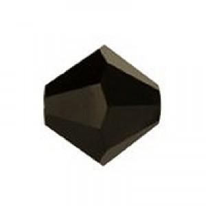 Swarovski Elements Perlen Bicones 5mm Jet NUT 2x beschichtet 100 Stück