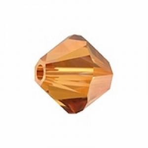 Swarovski Elements Perlen Bicones 6mm Crystal Copper 50 Stück