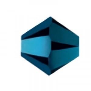 Swarovski Elements Perlen Bicones 6mm Crystal Metallic Blue 2X beschichtet 25 Stück