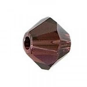 Swarovski Elements Perlen Bicones 6mm Burgundy SAT 25 Stück