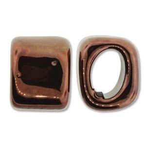 Spacer 15x15x18mm für 10x7mm Lederband antik Copper 1 Stück