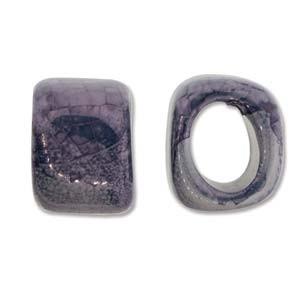 Spacer 15x15x18mm für 10x7mm Lederband Silver Blue 1 Stück