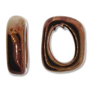 Spacer 7x15x18mm für 10x7mm Lederband antik Copper 1 Stück