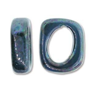 Spacer 7x15x18mm für 10x7mm Lederband Cobalt 1 Stück