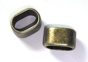 Spacer 12x9mm für 10x7mm Lederband antik goldfarben