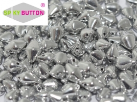 Spiky Button 4,5x6,5mm Crystal Full Labrador ca 50 Stueck Stueck