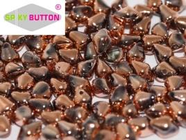 Spiky Button 4,5x6,5mm Crystal Full Capri Gold ca 50 Stueck