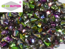 Spiky Button 4,5x6,5mm Crystal Magic Orchid ca 50 Stueckk