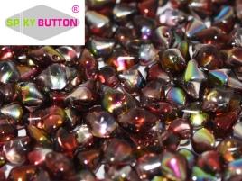 Spiky Button 4,5x6,5mm Crystal Magic Wine ca 50 Stueckk